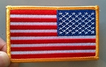 EMBROIDERED PATCH: USA FLAG - Right Shoulder